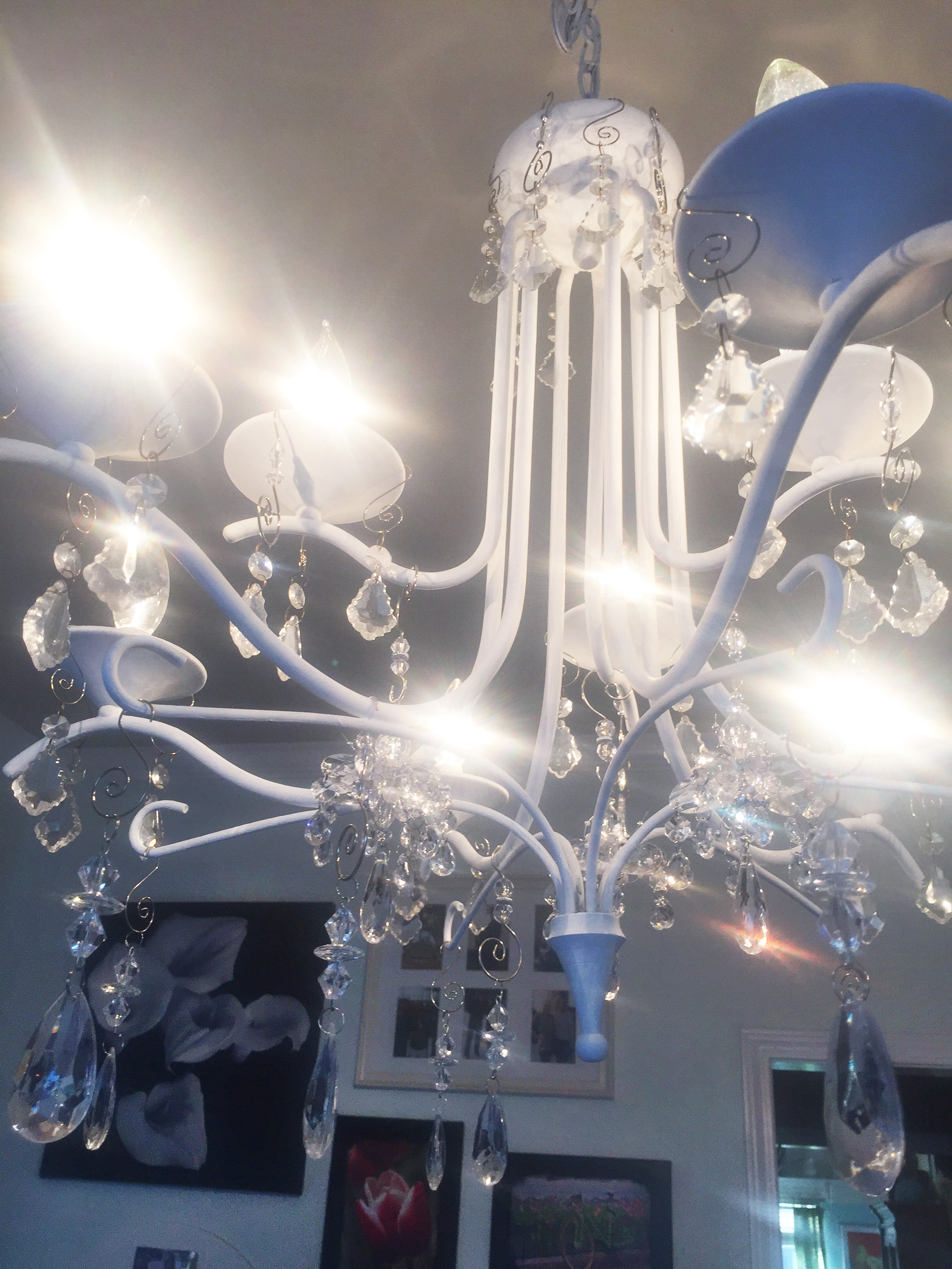 Chalk paint chandelier shines bright sunshinetulip chalk paint chandelier shines bright mozeypictures Gallery