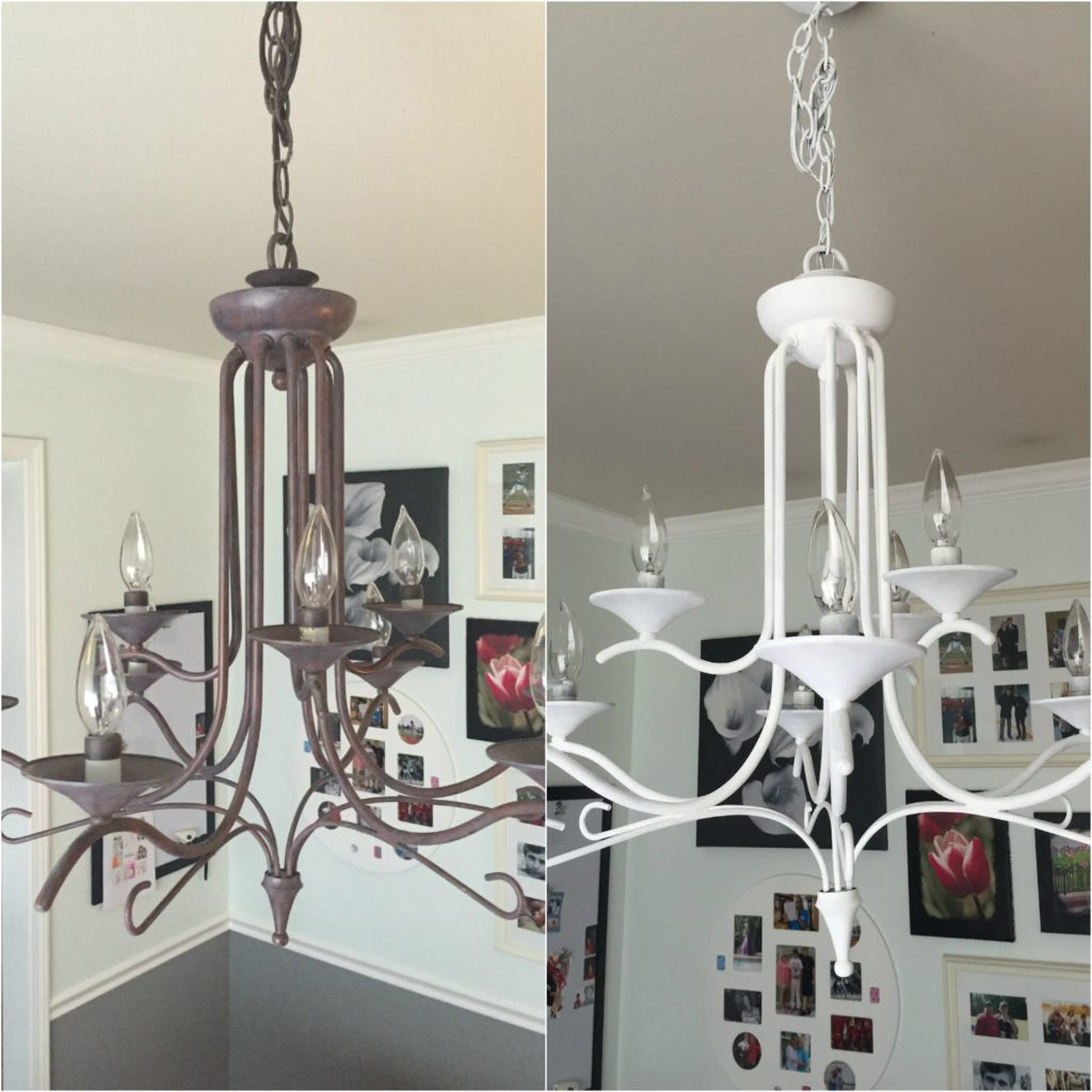 Chalk paint chandelier shines bright sunshinetulip sunshinetulip chalk paint chandelier aloadofball Images