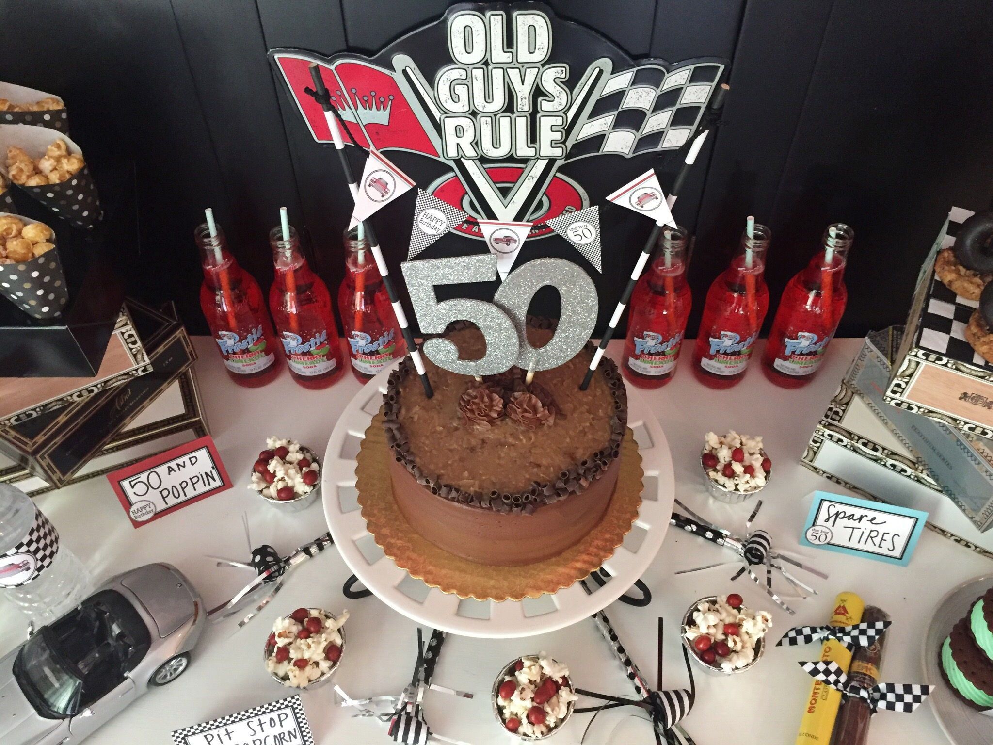 50th Birthday Fast Cars Cigars Party
