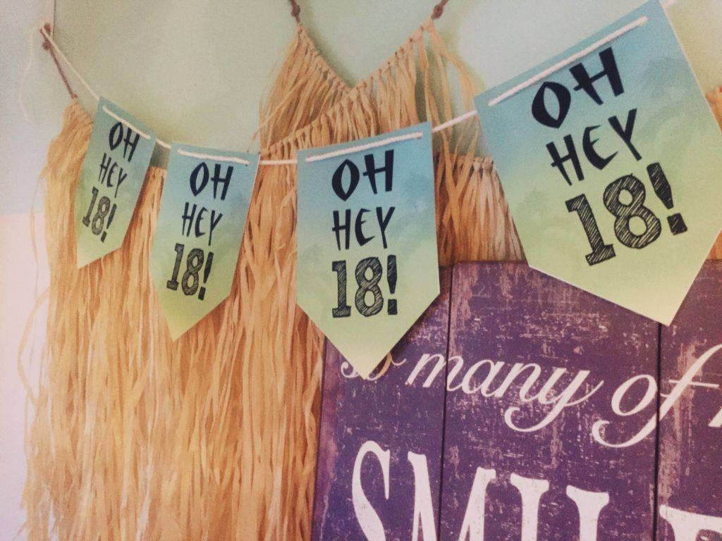 Ombre 18th Birthday Party Banner