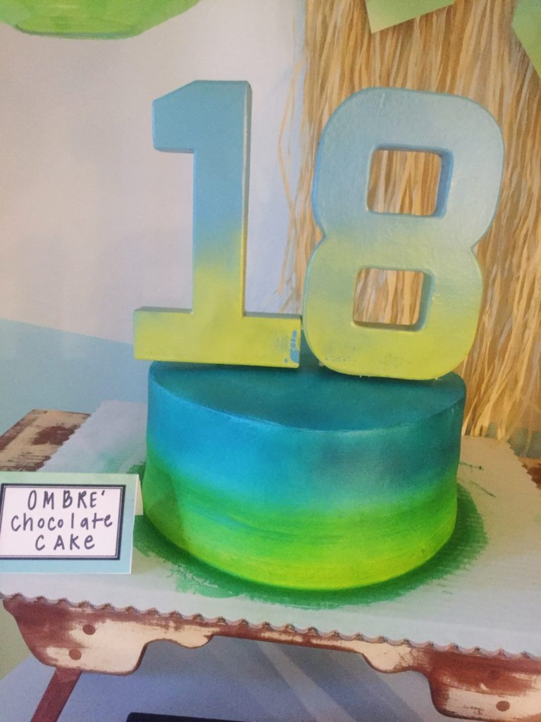 Ombre 18th Birthday Party