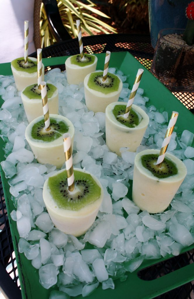coconut pineapple frozen yogurt pops