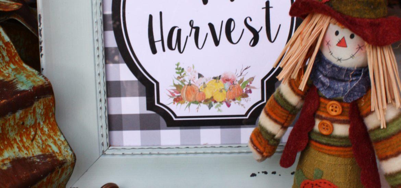 Happy Harvest Free Printable
